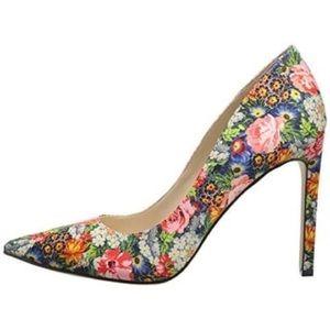 Nine West Floral heels size 7.5